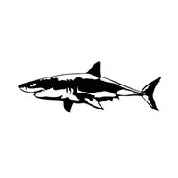 Wholesale Hot Bumper Stickers - 2017 Hot Sale Great White Shark Vinyl Decal Car Window Bumper Sticker Fish Jaws Car Accessories Jdm