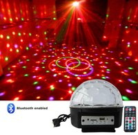 Wholesale Dmx Color Changing Lights - Mini DMX LED effects Magic ball crystal stage lighing bulbs MP3 Player bluetooth+remote sound active DJ DISCO PARTY lights AC110-240V
