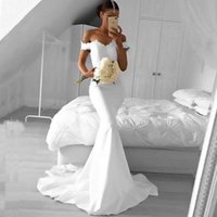 Wholesale inexpensive custom made dresses for sale - Group buy Stunning Mermaid Bridesmaid Dress Long Formal Off the Shoulder Wedding Guest Dress Lace Top Sheer Train Custom Made Inexpensive