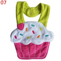 девушка полотенце горячей оптовых-Wholesale- Kids Girl Boy Animal Saliva Towel Waterproof Lunch Bibs Newborn Toddler BIbs Hot Selling
