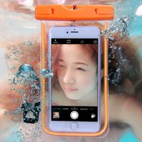 Wholesale Case Fluorescent - Waterproof Phone Case for Iphone 7 6s 5SE Samsung Galaxy S7 S6 Edge Cover Diving Swim Underwater Water Resistant Pouch Bag Fluorescent