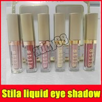 Wholesale Glowing Eyes - 2017 Makeup Shimmer Glow Glitter Glow Stila 6 Color eye shadow set Stila Eye For Elegance Set Liquid Free Shipping