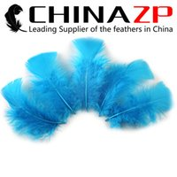 Wholesale Plumage Feathers - Leading Supplier CHINAZP Crafts Factory 500 pieces per lot Cheap Wholesale Turquoise Blue Turkey Flat Body Plumage Feathers