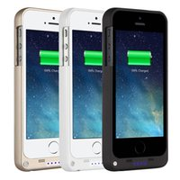 Wholesale Iphone Rechargeable Case External - External backup battery charger case for iphone 5 5s, backup battery 2200mAh portable power bank 2200mah rechargeable battery case