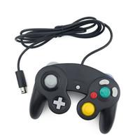 fil nintendo achat en gros de-Nouvelle manette de jeu de manette filaire 2 pièces / LOT pour Nintendo pour GameCube pour console Wii