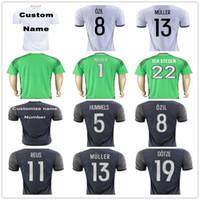 Wholesale Germany Green - Germany Soccer Jerseys Muller Gotze Reus Kroos Draxler Neuer OZIL HUMMELS BOATENG SCHWEINSTEIGER Customize Home Away Football Shirt Uniform