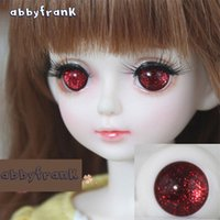 Wholesale Bjd Eyes 14mm - Safety Toy Eye Suitable for SD BJD Doll Toy 1 3 1 4 1 6 1 8 12mm 14mm 16mm 18mm 20mm Half Round 1 Pair Eye For Doll Accessories
