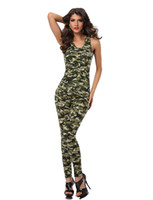 Wholesale soldier women costume for sale - Group buy Sexy Women Army Uniforms Halloween Party Cosplay Costumes Women Role Play Soldier Camouflage Tops And Pants