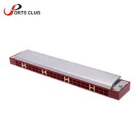 Venda Por Atacado Tremolo Harmonica Órgão Mouth 24 Double Holes com 48 Reeds Chave de C Reed Free Wind Instrument Com Case para Music Lovers