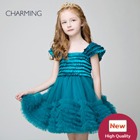 Wholesale Tutu Flower Girl Dresses China - Prom pageant dresses Kids design clothes Green color high quality Pageant dresses for girls Little girl tutu China suppliers
