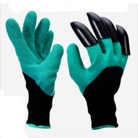 Wholesale 20PCS Outdoor Green ABS Plastic Claws Home Gardening Gloves with Garden Gloves for Digging Planting ZL3060