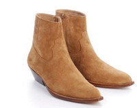 Wholesale Cowboy Boots Dresses - Chelsea New Arrival men leather boots fashion cowboy boots SexeMara Europe trend suede leather boots low heel riding booties dress shoes