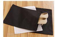 Wholesale Shoe Travel Bag Fabric - Portable Travel Storage Bag For Shoes Non-woven Drawstring Shoes Bags Clothes Underwear Pouch Organizer White Black