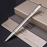 Wholesale Stainless Steel Ball Pens - Full Metal Parker Vector roller ball Pen 0.5mm nib stainless steel rollerball Pen Business stationery Office Supplies