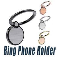 iphone verwendet kostenlos großhandel-Universal finger ring halter 360 drehung finger grip mit free haken magnet auto telefon ständer halter für iphone x 8 7 6 plus s9 plus