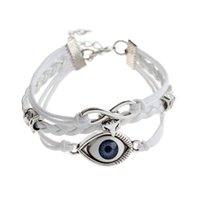 Wholesale Personalized Leather Jewelry For Men - Wholesale-2016 new evil eye charm bracelet Vintage Punk personalized Accessories leather bracelet men jewelry bracelets for women