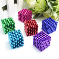 Wholesale Magnet Neo - Magic cubes 5mm 216pcs Neo Cube Magic Puzzle Metaballs Magnetic Balls Magnet Colorfull Magic Toys With Metal Box+bag+card