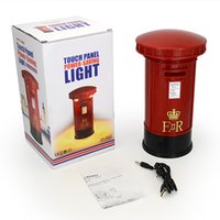 Wholesale Mailbox Wholesalers - Wholesale Retro 2 in 1 Mailbox Style Piggy Bank with Touch Light LED Brightness Night Lights USB Recharging Postbox Money bank Desktop Light