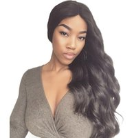 Wholesale hairstyles human hair for brown ladies online - Body Wave Full Lace Human Hair Wigs for Women Indian Hair Lace Front Wigs with Baby Hair FDshine