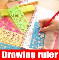 Wholesale Pattern Ruler - New pattern childrens drawing template Art drawing ruler hollow drawing board childrens Toys Improve children hands-on ability
