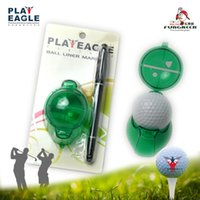 Wholesale Plastic Golf Markers - Wholesale- 3pcs lot High quality Plastic Golf Ball Liner Marker Template Drawing Alignment Tool Plastic Golf Training Accessories with Pen