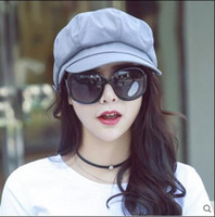 Plain Dyed painter caps - Hat octagonal cap thin spring summer female Korean version youth painter Beret peaked cap six color available