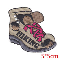 Wholesale Boot Irons - HIKING BOOT hiker otudoors sports iron-on patch embroidered applique