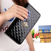 Wholesale Luxury Crown Wallet - 2017 High Quality Brand PU Leather Wallet Women Fashion Imperial crown Decorate Long Wallet Women Luxury Long Purse Phone Wallet