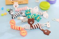 Cute Cartoon Earphone Wire Cord Cable Winder Organizer Holder pour iPhone 5 Tablet MP3 MP4 PC Electric Cable threading thread tool