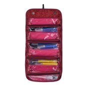 Wholesale Hanging Pocket Organiser - Fashion Lovely Cosmetics Organiser Makeup Bag Hanging Toiletries Pockets Compartment Travel Kit Roll-N-Go Jewelry Bags DHL free ship