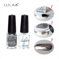 Wholesale Light Blue Nail Polish - OB1-OB22 LULAA 2017 mirror nail polish smooth light water-based peelable silver nail polish metal non-toxic environmentally friendly