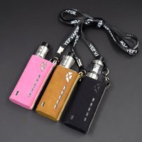 Wholesale Leather Lanyards Wholesale - Tesla Terminator Leather Carrry Case Carring Pouch Bag Holder Black Brown Pink 3 Colors with YEP Lanyard Fit Terminator Box Mod DHL Free