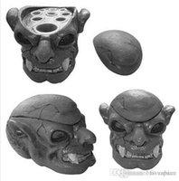 Wholesale Skull Ink Cap - SKull Type Hard Resin Tattoo Ink Cup Caps Holder Skull Head 7 Holes Tattoo Ink Cup Holder Tattoo Accessory