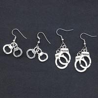 Wholesale Mini Handcuffs - New Freedom Handcuff Earrings Mini Handcuff Pendant Dangle Ear Cuffs for Women inspiration Fashion Jewelry Gift Drop Shipping