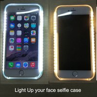 Wholesale Iphone Battery Lighting - Light Up Cases selfie case Battery Self Case Luminous Case For iphone x 8 7 6s 7plus Galaxy S6 S7 edge With Retail Package