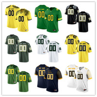 oregon football - Custom Mens Oregon Ducks College Football Limited white black Apple Green Yellow Navy Personalized Stitched Any Name Number Jerseys S XL