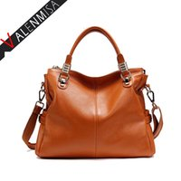 Wholesale Celebrity Bags Genuine Leather - Wholesale-Celebrity 100% Genuine Leather Bags Luxury Large Designer Brand High Quality Hand Bag Tote Shoulder Bags Women Messenger Bags