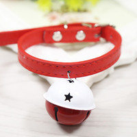 Wholesale Color Leather Dog Collars - New Arrival Dog Collar Pets Supplies Big Bell Cute Collar Lead Perfect For Cats Dogs Decoration Accessories SM Sizes Available Mixed Color