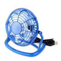 Wholesale- Portable DC 5V Small Desk USB 4 Blades Cooler Ventilateur Ventilateur USB Mini Fans Opération Super Mute Silent PC / Laptop / Notebook