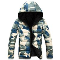 Wholesale Camouflage Winter Coats For Men - Wholesale- Men's Fashion Winter Parkas Camouflage man Jacket Warm Slim Fit battle fatigues Coat Autumnhombre Outwear for man S-2XL