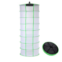 materiales netos al por mayor-Hanging Drying Net 8 Tier Hydroponic Grow Tent Estante seco Ayuda a las hierbas secas Bud Flowers Material vegetal Ropa fácilmente