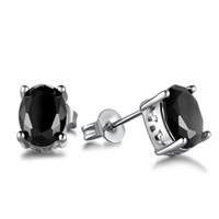 orejeras negras para los hombres al por mayor-Moda Resina Cuadrado Negro Resina Crystal Stud Pendientes para Mujeres Hombres y Adolescentes Ventas Calientes orejas de Stud Joyería Al Por Mayor