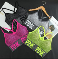 Wholesale Hot Sale Seamless Bra - Hot Sales! Cross Strap Back Women Sports Bra,Professional Quick Dry Padded Shockproof Elastic Running Yoga Tops Vest love pink