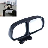 espejos de vehículos al por mayor-ABS del coche Punto ciego Vista posterior del coche Lado gran angular Vista Espejo Vehículo 2 Espejo Interior Negro Color Nuevo