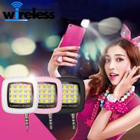 Wholesale mini flashing leds - Portable Smartphone Phone Selfie for iPhone 6 Plus Mini 16 Leds LED Flash Fill Light For iPhone IOS Android Smartphone