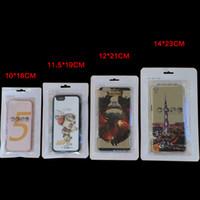 tienda de fundas móviles al por mayor-12 * 21 cm blanco Bloqueo de la cremallera accesorios del teléfono móvil caja del auricular bolsa de embalaje de compras OPP PP PVC Poli plástico bolsa de embalaje