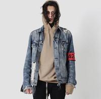 Wholesale Uk Street Fashion - dongguan_wholesale in stock ss 424 High Street Plus Size KANYE Cowboy Jacket OVERSIZE Loose Jackets US UK CA GE LOVE