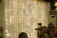 Wholesale Mushroom Garden Decor - 4.5M x 3M 300 LED Wedding Light icicle Christmas Light LED String Fairy Light Bulb Garland Birthday Party Garden Curtain Decor