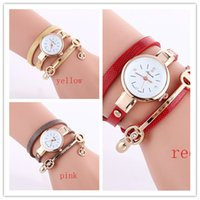 Wholesale Crown Leather Watch - 2017 Charms Watches Bracelet Women Watches Fashion Leather Quartz Wrist Watches Goddess Crown Round Dial Drop Free Shipping