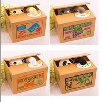 Wholesale Cute Piggies - Creative novelty stealing money piggy bank cartoon cute cat panda electric deposit pen child birthday gift